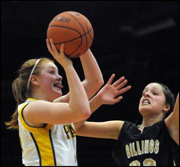 CLASS AA GIRLS' BASKETBALL TOURNAMENT: Missoula Sentinel wins thriller over Billings West, 42-41