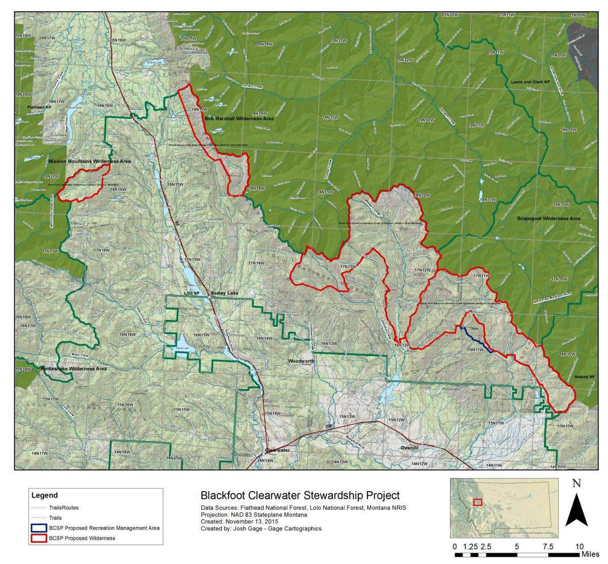 Blackfoot-Clearwater Stewardship Project map