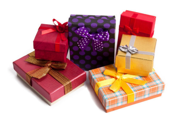 christmas holiday gift present stockimage