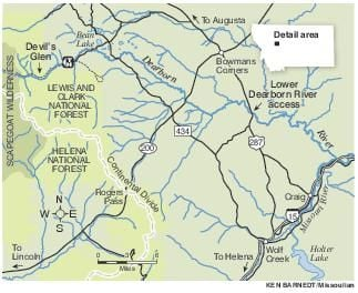 Dearborn River Tale Of Three Rivers Rolled Into One Outdoors - Rivers of montana map
