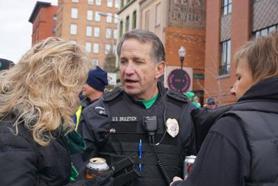 Undersheriff George Skuletich mingles with the crowd