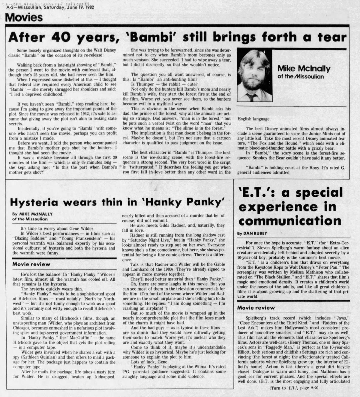 Bambi column 1982