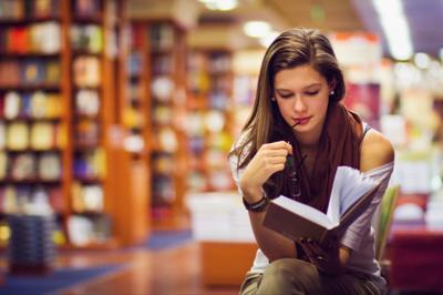 reader library book stockimage