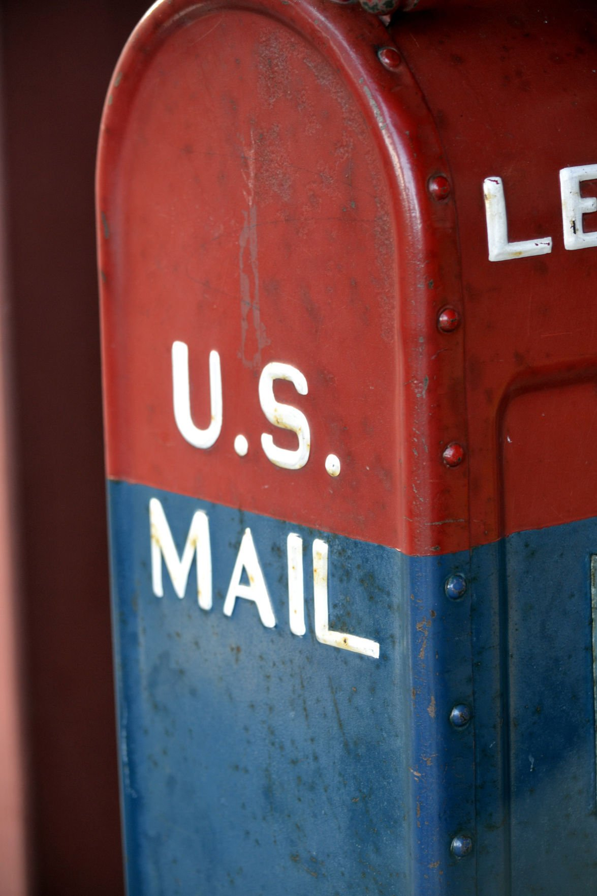 Red and Blue US Mail Box