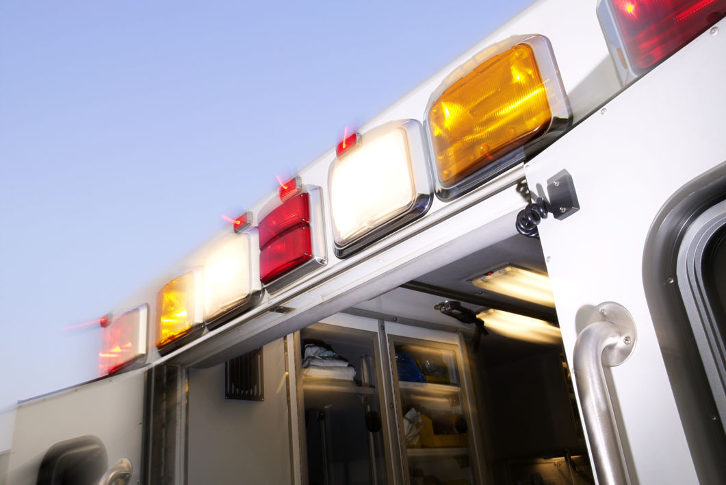 Emergency ambulance crash