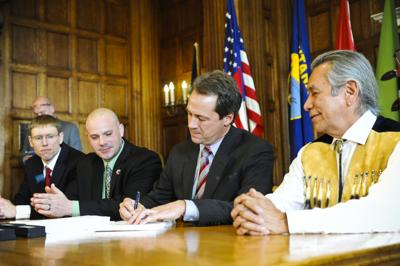 Bullock Signs Water Compact - 2015