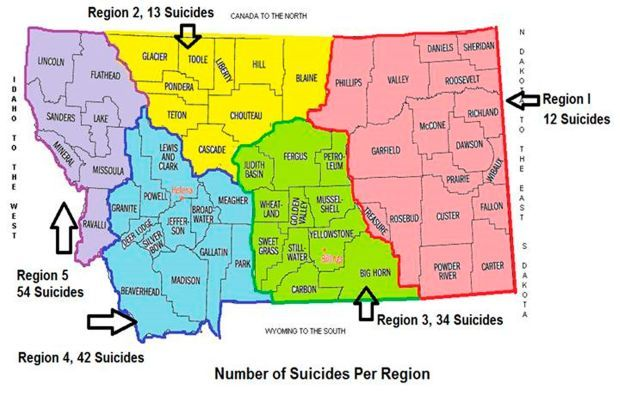 Suicide prevention map