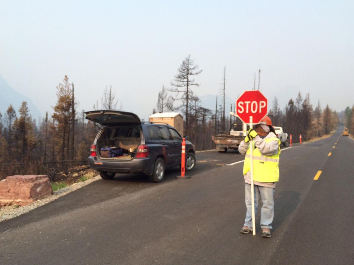 Glacier National Park road work