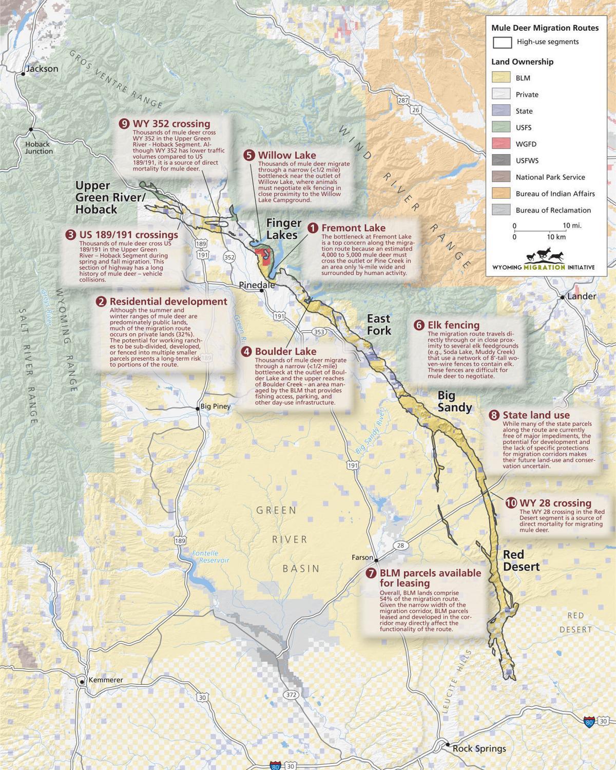 Hoback migration map