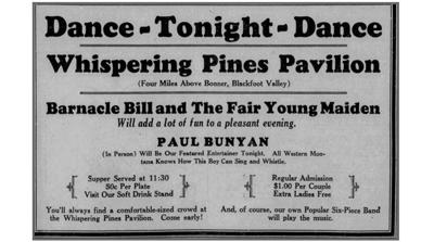 Whispering Pines Pavillion ad