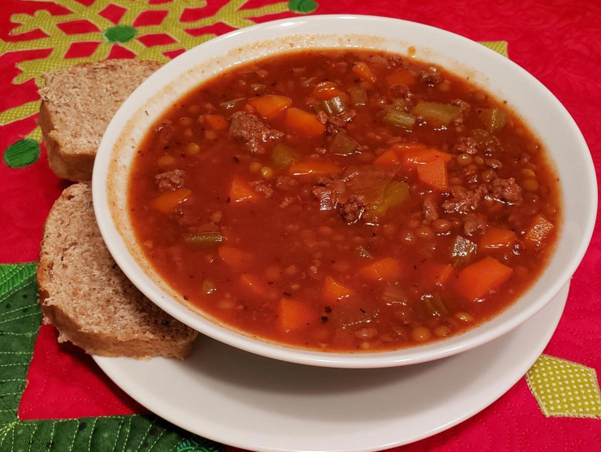 Hamburger Lentil Soup