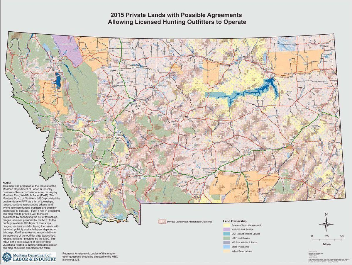 Montana Outfitted Lands Map Sparks Controversy State Regional - Montana on the us map