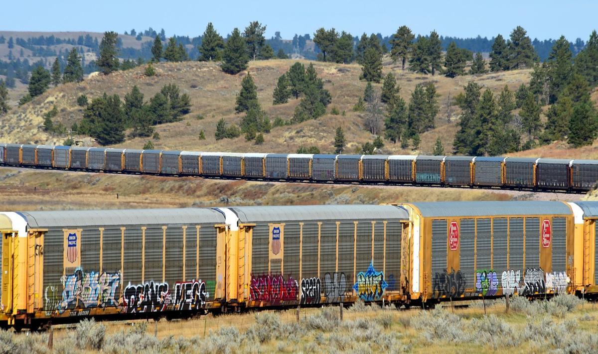 Graffiti rail cars