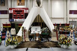 PHOTO: Chief Earl Old Person lies in state