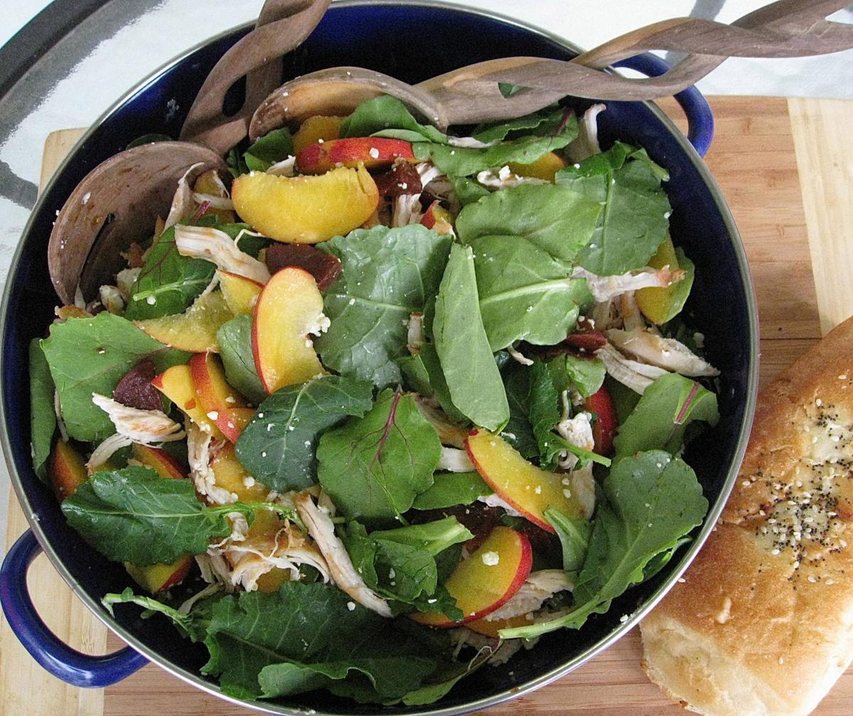 Nectarine, beet and goat cheese salad