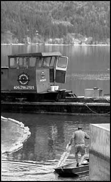 Flathead Lake: Barge dumps oil