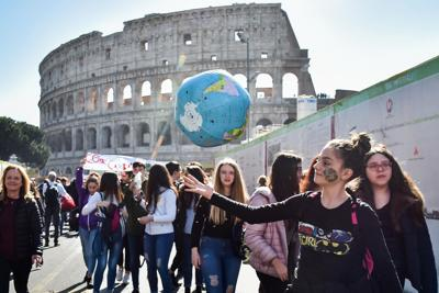 A climate protest in Italy