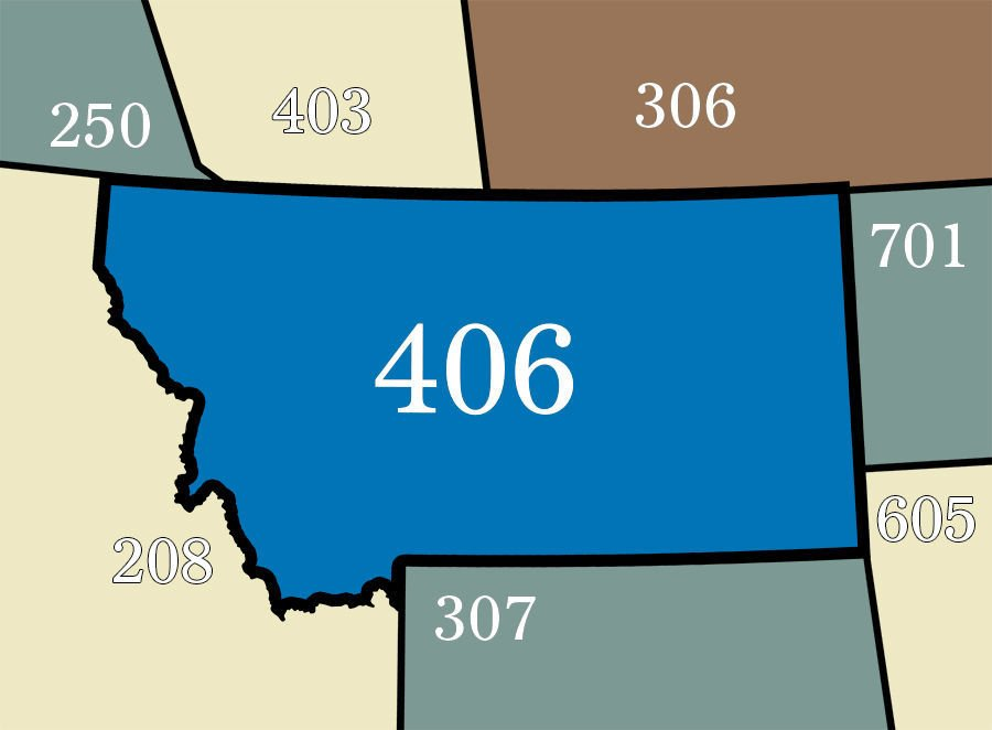 The Montana Expected To Keep Single Area Code Until - Area code 531
