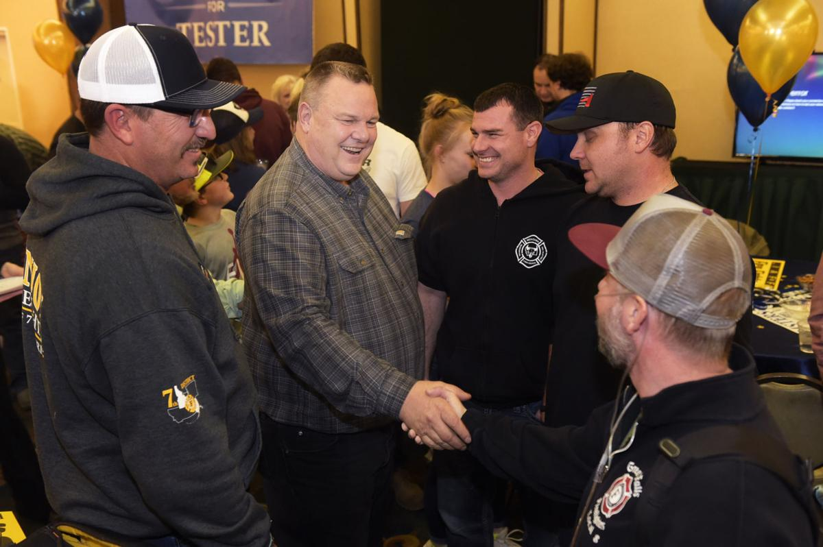 Sen. Jon Tester meets with supporters