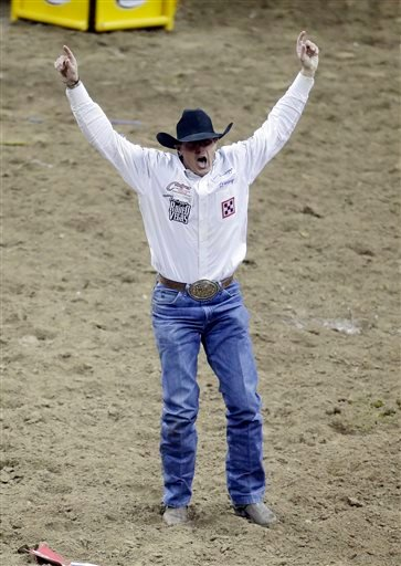 Knowles Takes Season Steer Wrestling Lead At Nfr Rodeo