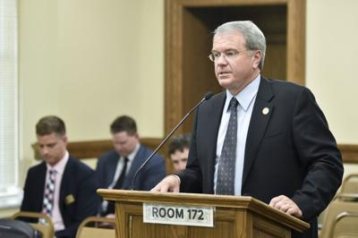 Commissioner of Higher Education Clayton Christian testifies