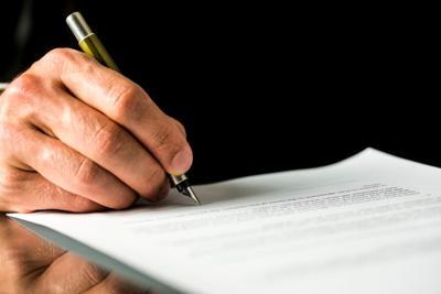 ballot measure poll contract initiative stockimage