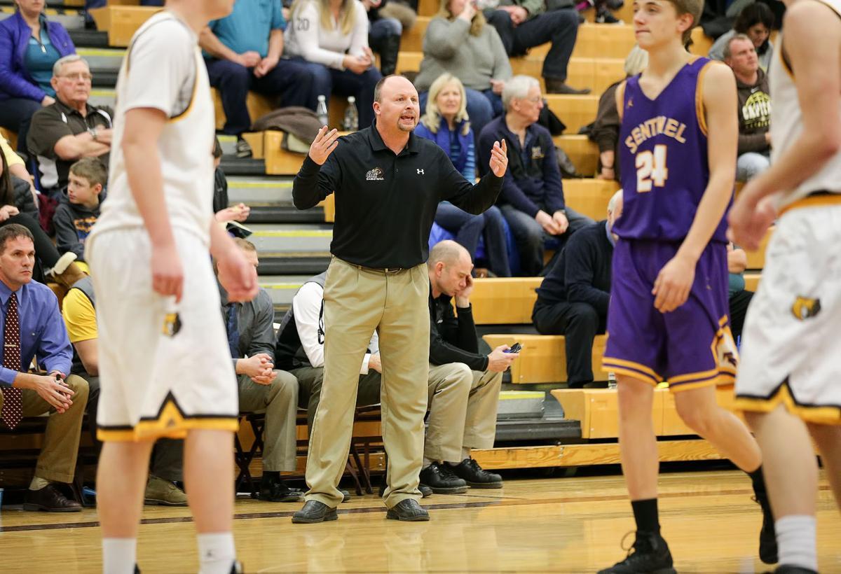 boys basketball; CHS vs Sentinel