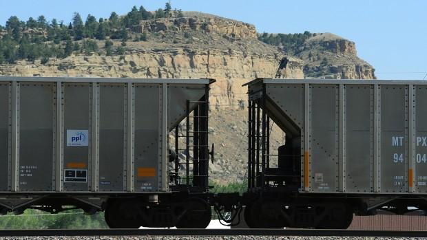 Coal train cars