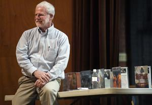 Author Ben Mikaelsen tells Missoula students to write their most important story