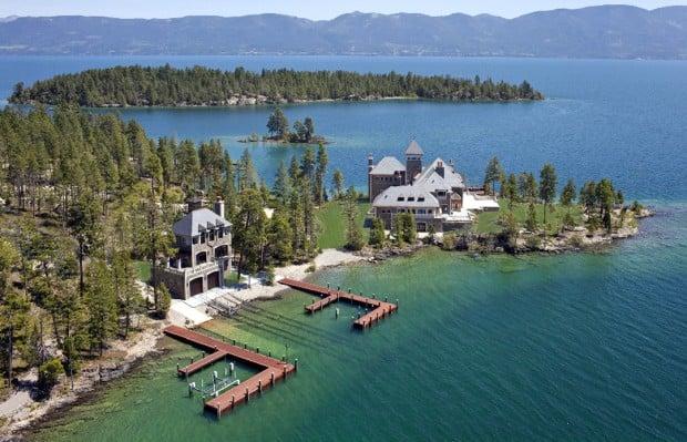 flathead lake island mansion - photo #2