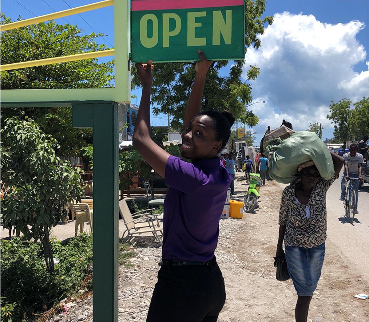 Haiti project; Store manager Lynn Sarah Admettre