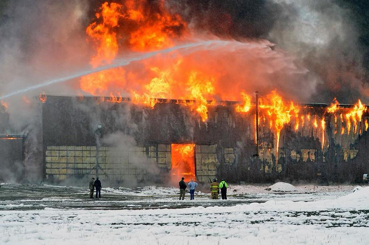 Libby's last mill burned to the ground Sunday