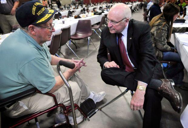Former Vice President Dick Cheney, right, and former U.S. Senator Conrad Burns
