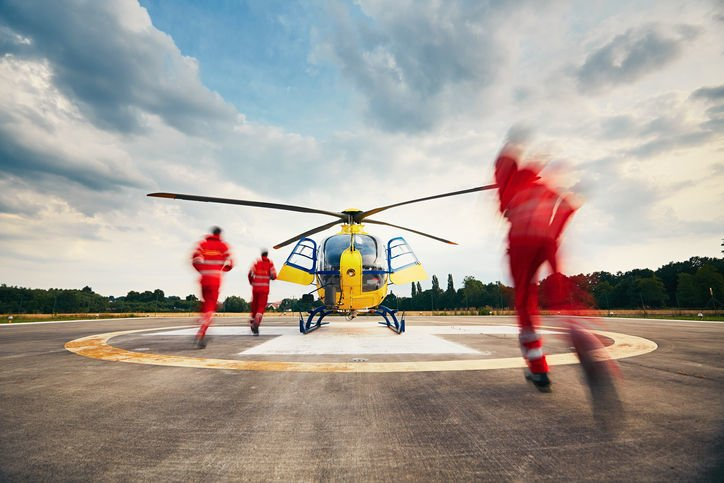 search and rescue team helicopter stockimage