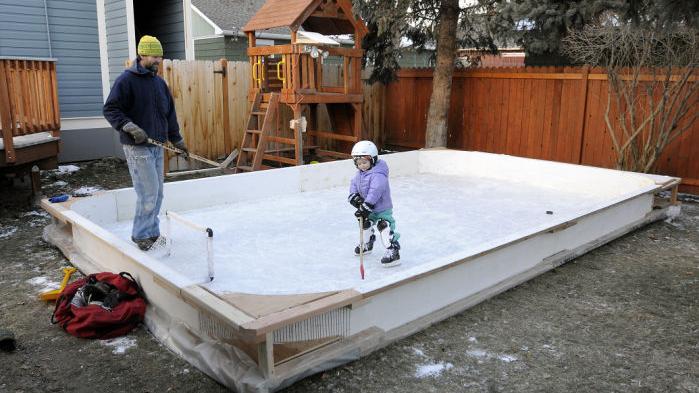 Backyard ice: Homemade skating rinks pop up around ...
