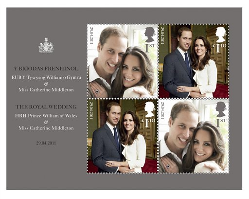 US post office offering British wedding stamps