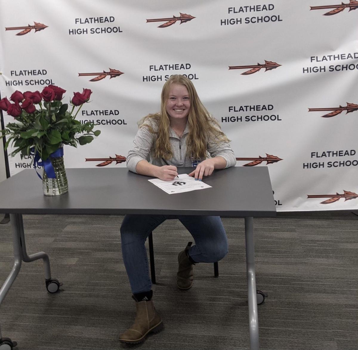 Flathead Marcella Mercer signs college