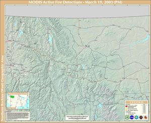 Modis Active Fire Mapping Program's Map for August 6, 2007 | Fires