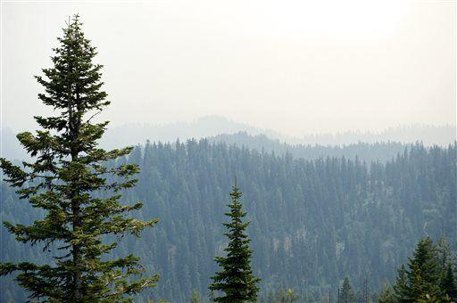 The Latest: Crews fight fire near Montana highway
