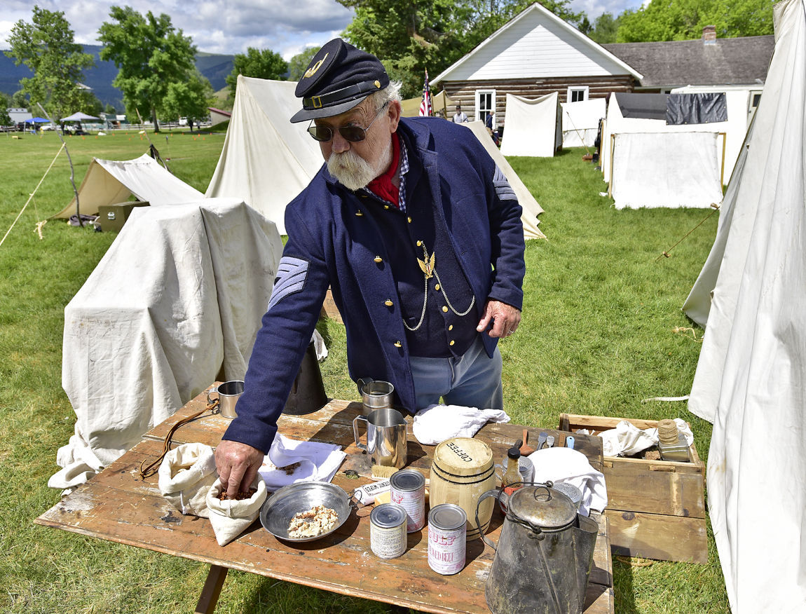Reenactors portray Civil War regiment at Fort Missoula