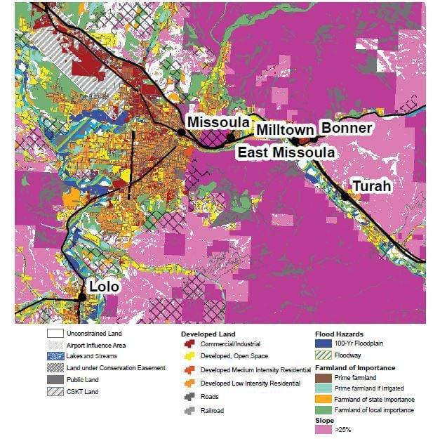 Constraints on development in Missoula