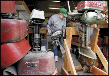 Outboard affection: Retiree busy restoring vintage motors
