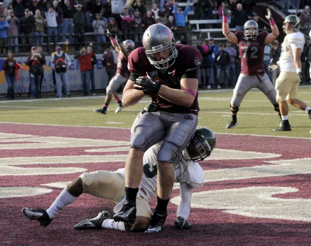 Clay Pierson makes a touchdown
