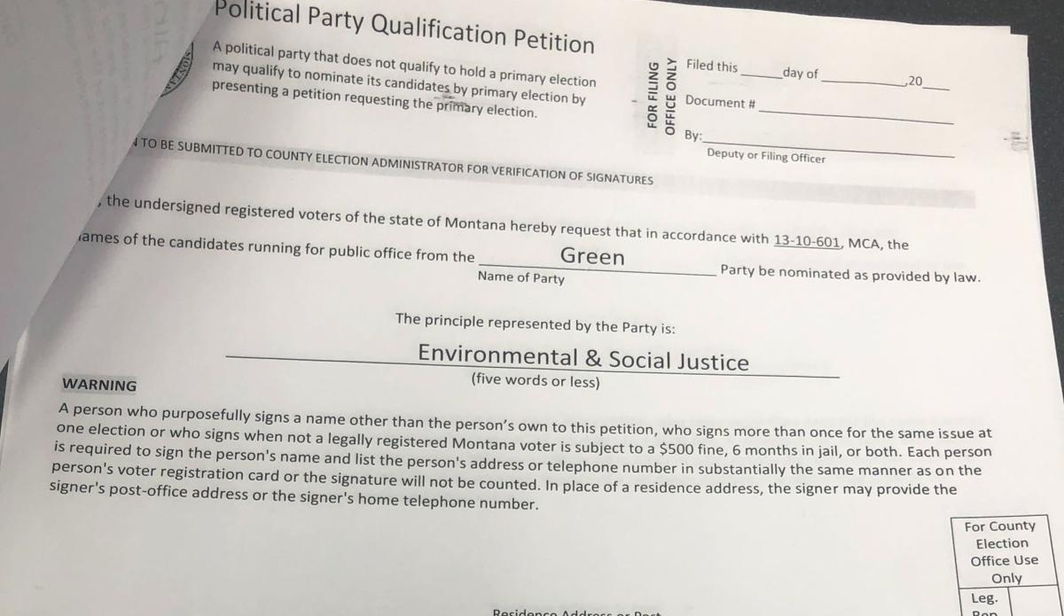 Green Party petition