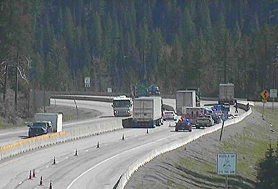 Plane crashes on I-90 at Lookout Pass, highway cleared
