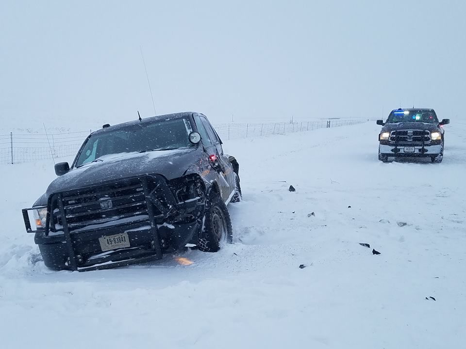 Park County Sheriff's Office vehicle totaled