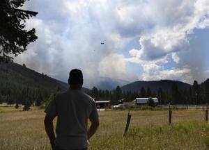Update: Lolo Peak fire run spurs late-night mandatory evacuations