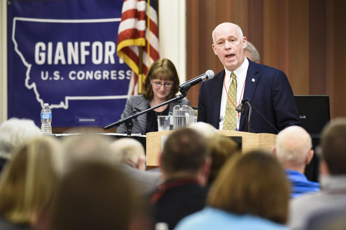 Greg Gianforte speaks Monday night