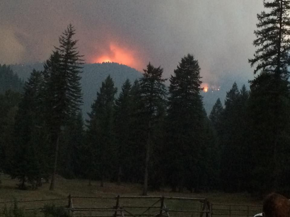 West Fork Fish Creek fire