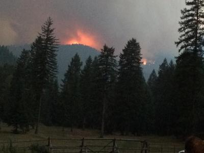 West Fork Fish Creek fire